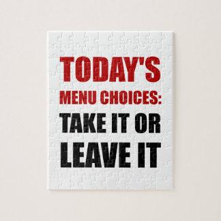 Todays Menu Choices Jigsaw Puzzle