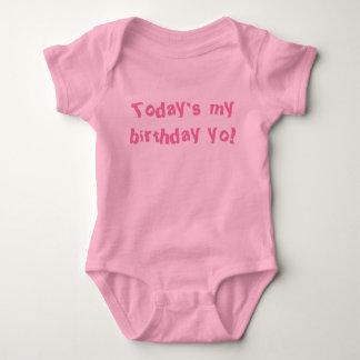 Today's my birthday yo! Baby one piece Baby Bodysuit