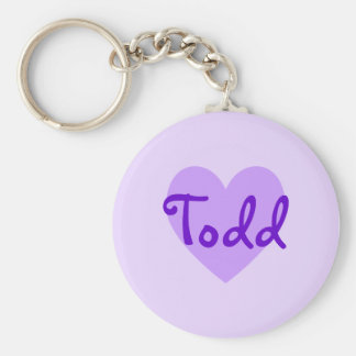 Todd in Purple Basic Round Button Key Ring