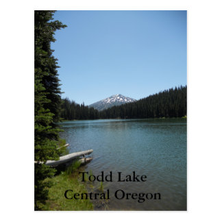 Todd Lake Central Oregon Postcard