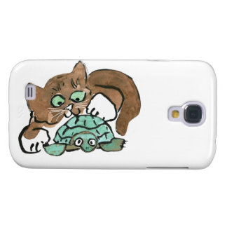 Todd the Brown Kitten Finds a Turtle Samsung Galaxy S4 Case
