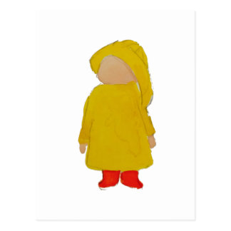Toddie Time April Showers Rainy Day Toddler Postcard