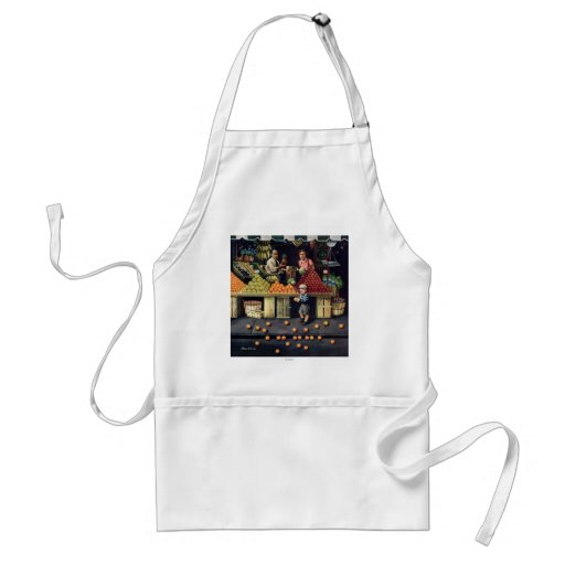 Toddler and Oranges Apron