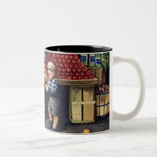 Toddler and Oranges Coffee Mug