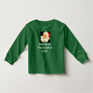 Toddler Christmas Shirt Cute and Funny Santa