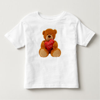 Toddler fine jersey t-shirt showing teddy bear