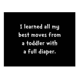 Toddler Full Diaper Postcard