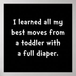 Toddler Full Diaper Poster