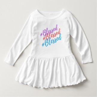 Toddler Girl Blessed Ruffle Bottom Dress