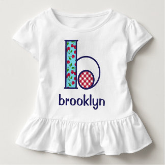 Toddler Girl Cherry Shirt Girls Monogram Top b