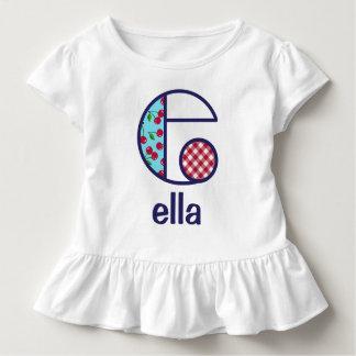 Toddler Girl Cherry Shirt Girls Monogram Top e