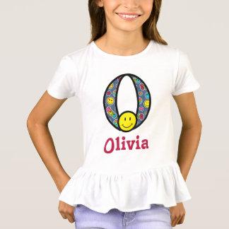 Toddler Girl Emoji Shirt Girls Smile Monogram O