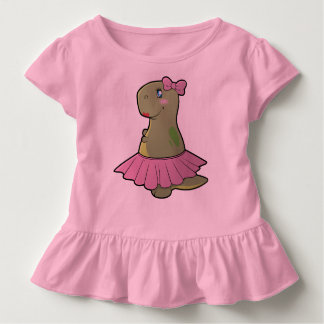Toddler Girls Dinosaur T-Rex Ruffled Shirt