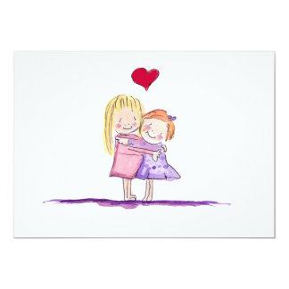 Toddler Girls Hugging Card