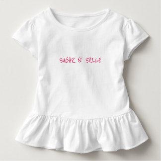 "Toddler Girl's ""SUGAR-N-SPICE"" Ruffle Tee"