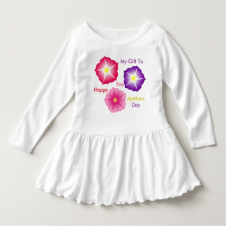 Toddler Happy Mothers Day Ruffle Dress
