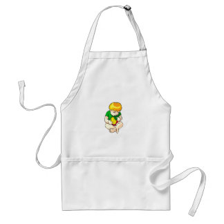 toddler holding chick green shirt.png aprons