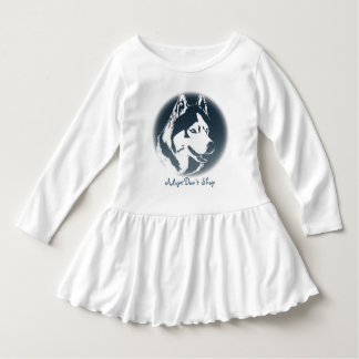 Toddler Husky Dress Husky Puppy Baby Dresses Tshirt