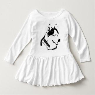 Toddler Husky Dress Husky Puppy Baby Dresses Shirts