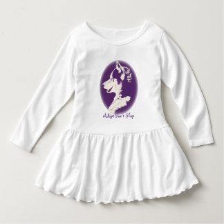 Toddler Husky Dress Husky Puppy Baby Dresses Tshirts