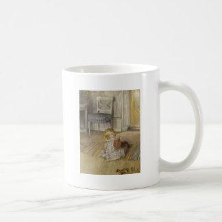 Toddler in a Pinafore Basic White Mug