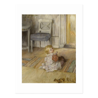 Toddler in a Pinafore Postcard