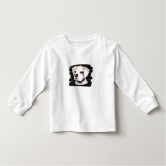 Toddler long sleeve boxer pup shirt