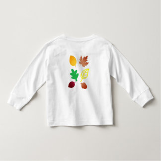 Toddler Long Sleeve T-Shirt with Leaves