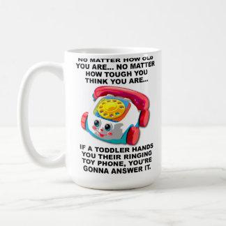 Toddler Phone Funny Travel Mug