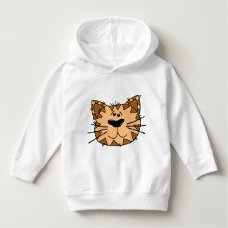 Toddler Pullover Hoodie with smiling cat