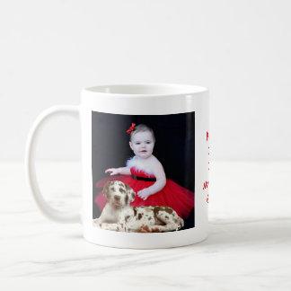 Toddler & Puppy Basic White Mug