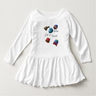 Toddler Ruffle Dress, Let it snow Dress