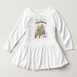 Toddler Ruffle Dress, Merry Christmas Dress