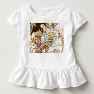 TODDLER RUFFLE T-Shirt FLYING BEE AND LACE