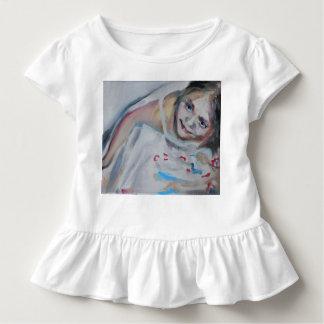 Toddler ruffle tee, baby dress with girl