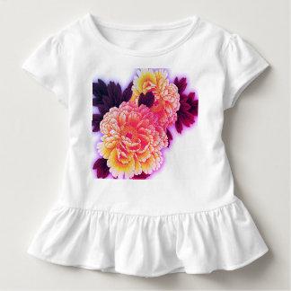 Toddler Ruffle Tee FLOWERS KANJI FOR LOVE