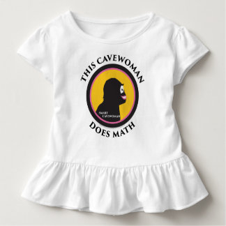 Toddler Ruffle Tee This Smart Cavewoman Does Math