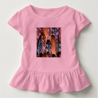 Toddler ruffle tee with Feathers