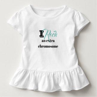 "Toddler ruffle Tshirt ""I rock an extra chromosome"""