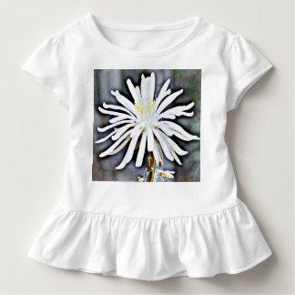 Toddler Ruffled Tee Dress - White Cactus Bloom