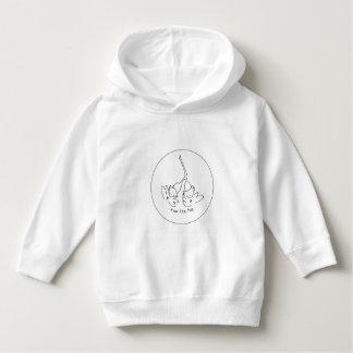 Toddler sweatshirt with hoodie