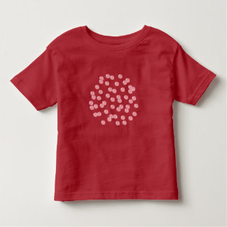Toddler T-shirt with red polka dots