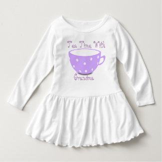 Toddler Tea Time With Grandma Ruffle Dress