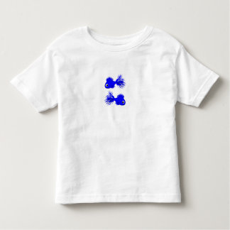 Toddler Teeshirt White with blue fishes Toddler T-Shirt