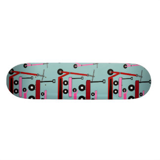 Toddler Transportation Red Pink Scooters Wagons 19.7 Cm Skateboard Deck