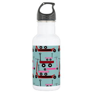 Toddler Transportation Red Pink Scooters Wagons 532 Ml Water Bottle