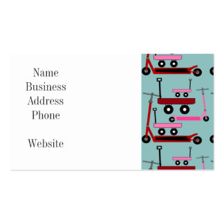 Toddler Transportation Red Pink Scooters Wagons Double-Sided Standard Business Cards (Pack Of 100)