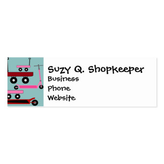 Toddler Transportation Red Pink Scooters Wagons Business Card Templates
