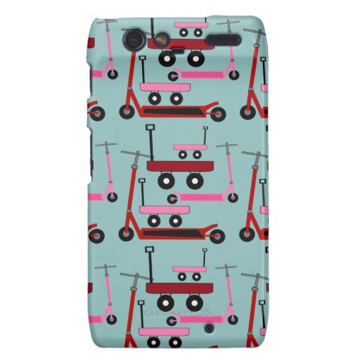 Toddler Transportation Red Pink Scooters Wagons Droid RAZR Cases