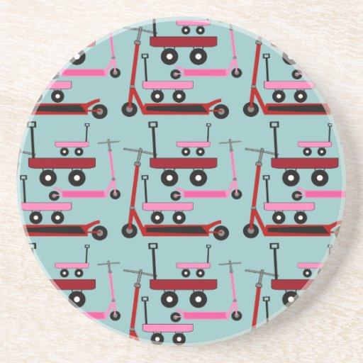 Toddler Transportation Red Pink Scooters Wagons Coasters